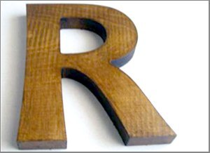 Wooden dimensional letters